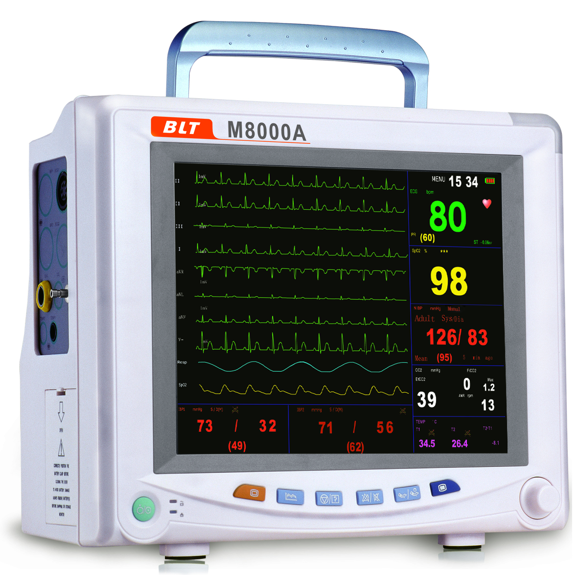 Biolight M8000a Multi Parameter Patient Monitor With C02